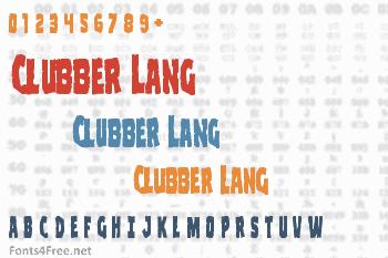 Clubber Lang Font