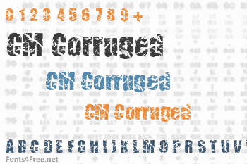 CM Corruged Font