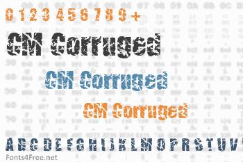 CM Corruged Font