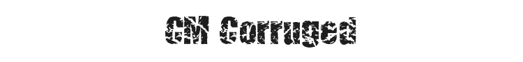 CM Corruged Font Preview