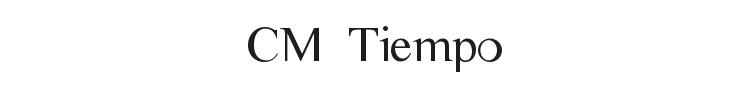 CM Tiempo Font Preview