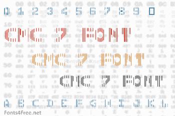 CMC 7 Font