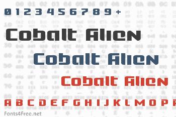 Cobalt Alien Font
