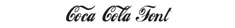 Coca Cola Font Preview