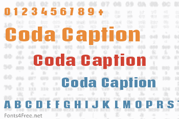 Coda Caption Font