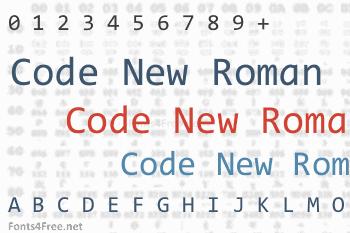 Code New Roman Font