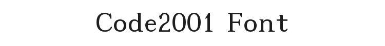 Code2001 Font