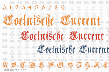 Coelnische Current Fraktur Font