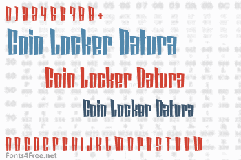 Coin Locker Datura Font