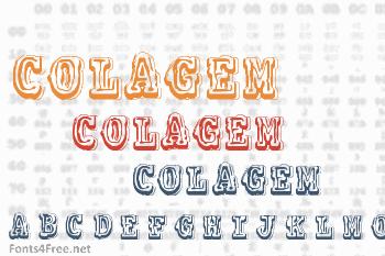 Colagem Font