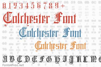 Colchester Font