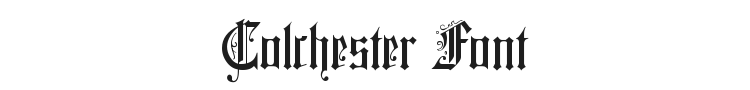 Colchester Font Preview