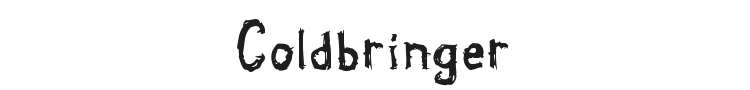 Coldbringer Font Preview