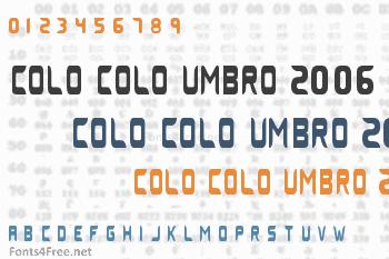 Colo Colo Umbro 2006 Font