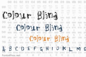Colour Blind Font
