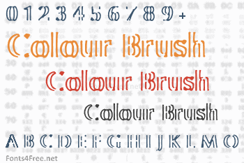 Colour Brush Font