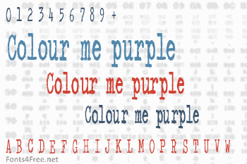 Colour me purple Font