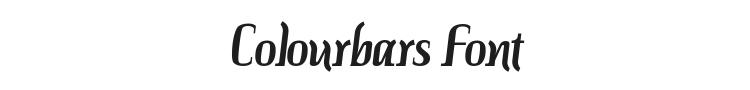 Colourbars Font Preview
