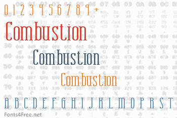 Combustion Font