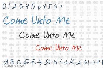 Come Unto Me Font