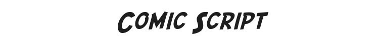 Comic Script Font Preview