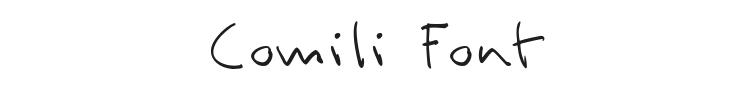 Comili Font Preview