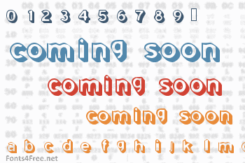 Coming Soon Font