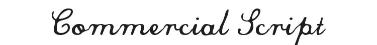Commercial Script Font Preview