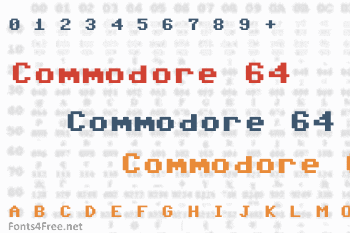Commodore 64 Pixelized Font