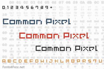 Common Pixel Font