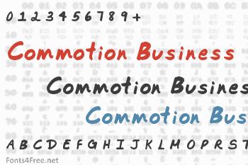 Commotion Business Font