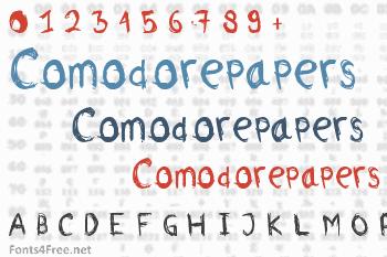 Comodorepapers Font