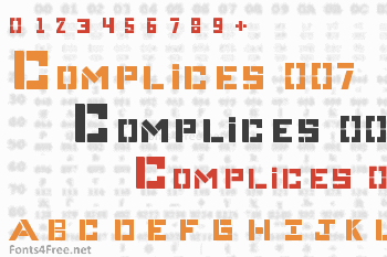 Complices 007 Font