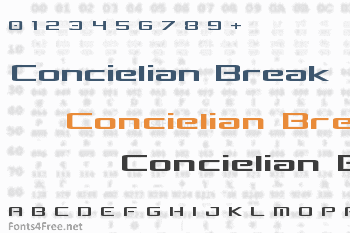 Concielian Break Font
