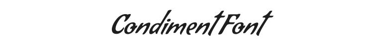 Condiment Font