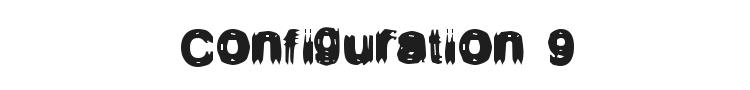 Configuration 9 Font Preview