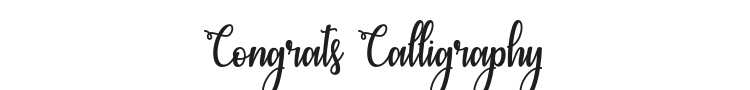 Congrats Calligraphy Font Preview