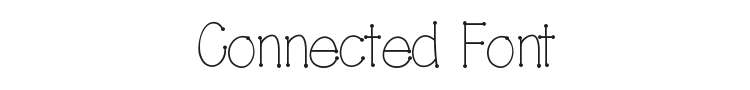 Connected Font