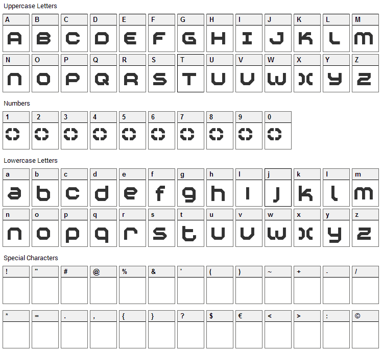 Construktiv Font Character Map