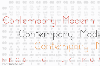 Contempory Modern Font