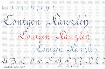 Contgen Kanzley Font