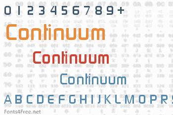 Continuum Font