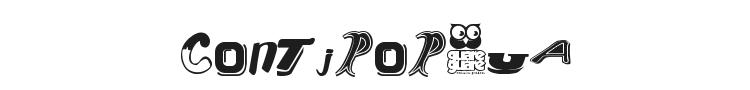 Contipopgua Font Preview