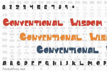 Conventional Wisdom Font