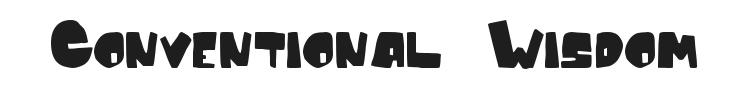 Conventional Wisdom Font Preview