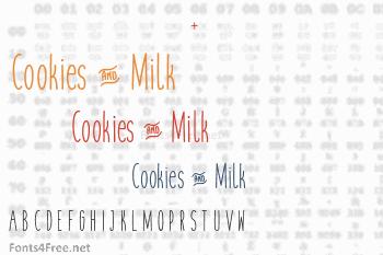 Cookies & Milk Font