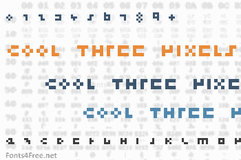 Cool Three Pixels Font