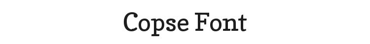 Copse Font Preview