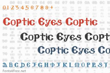 Coptic Eyes Coptic Font