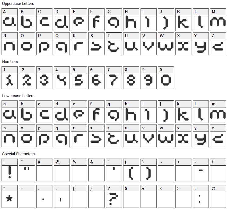 Copycat Font Character Map